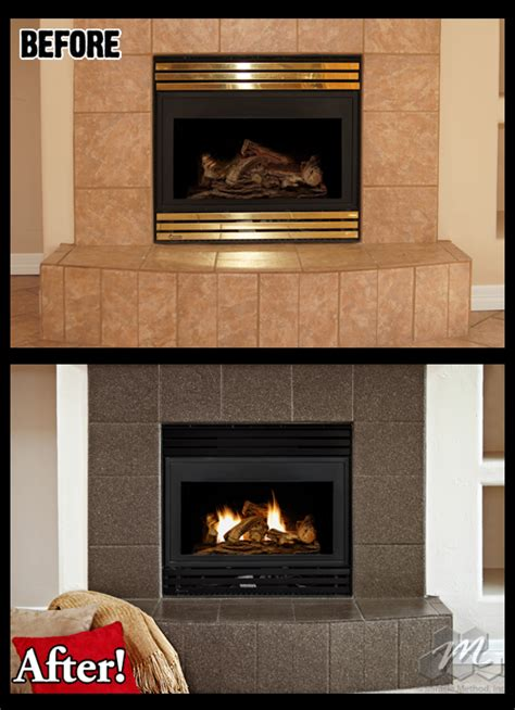 Refinish Fireplace by Can The Tile Around Fireplace Be Refinished Miracle