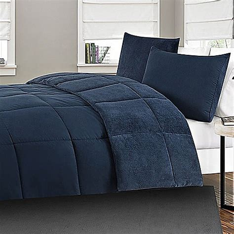 microfiber to plush reversible 2 3 piece comforter set in