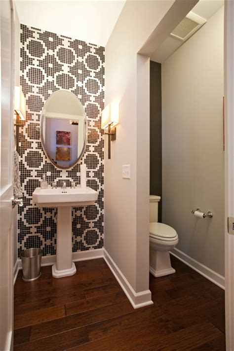 Shimon cuthbert residence contemporary powder room minneapolis by homes by tradition