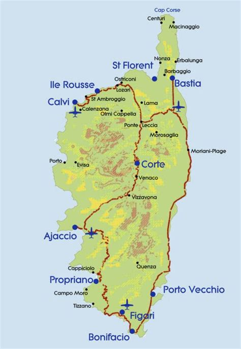 corsica map map of corsica maps the of maps search corse and maps