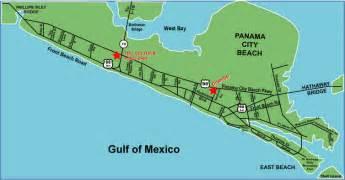 florida panama city map surfside location maps