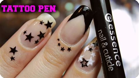 tattoo pen nail art nail tattoo tutorial nail and cuticle tattoo pen