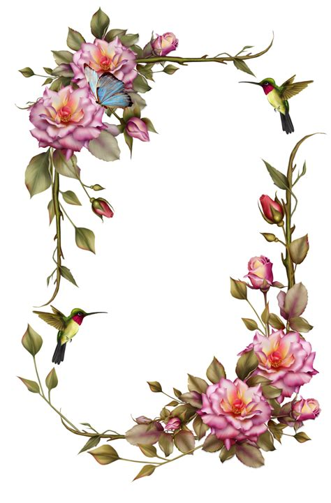 design bolder bunga quot roses and humming bird frame quot by collect and creat