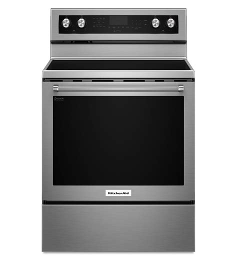 kitchenaid stainless steel electric convection range