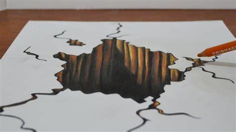 How To Make 3d Drawings On Paper - drawing a 3d trick on paper drawing and