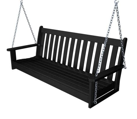 black porch swings vineyard 60in porch swing recycled outdoor furniture gns60