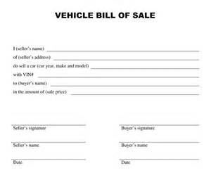 Statement form printable bill of sale template for car free printable