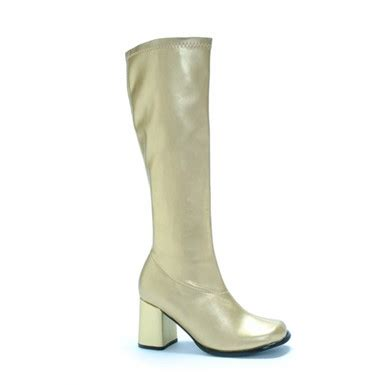 knee high go go boots gold boots for womens 60s costume