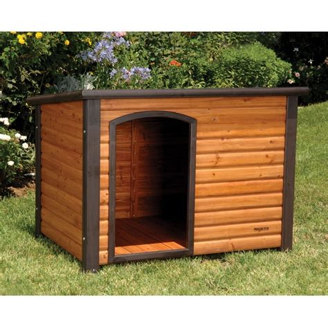 dog house with kennel precision pet precision pet extreme outback log cabin dog house dog houses