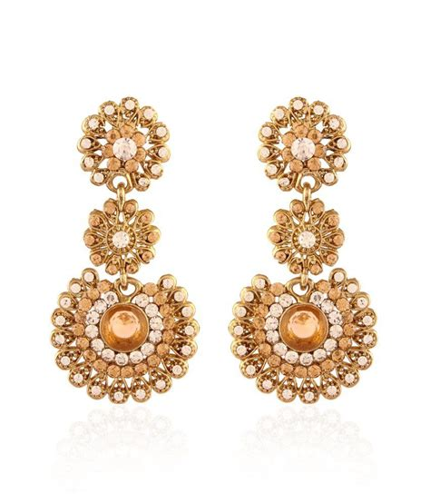 Gold Plated Chandelier Earrings I Jewels Traditional Gold Plated Chandelier Earrings Buy I Jewels Traditional Gold Plated