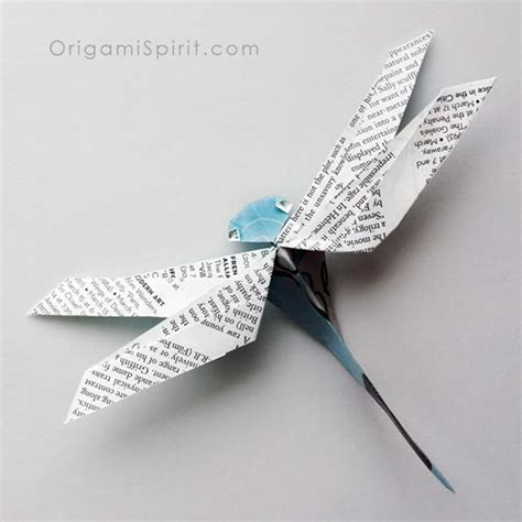 Dragonfly Origami - how to make an origami dragonfly