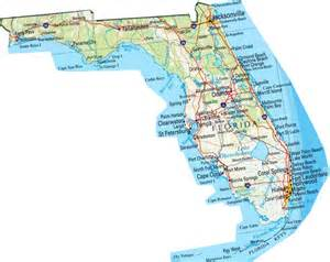 Area 58664 square miles state of florida florida state map