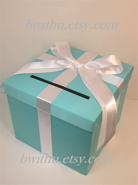 Where To Buy An Etsy Gift Card - blue wedding card box gift card box money box by bwithustudio