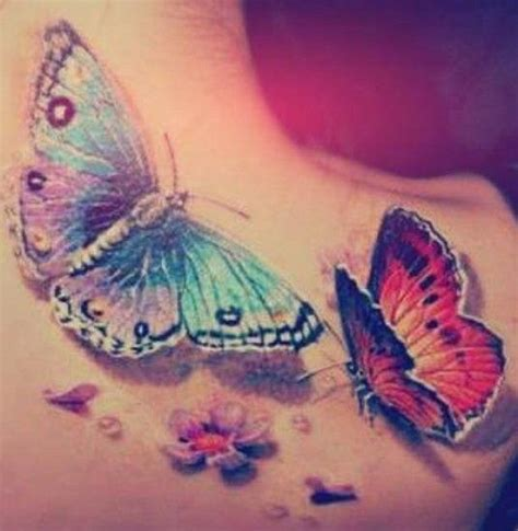 tattoo 3d schmetterling schmetterlinge 3d tattoo schulter friendship pinterest