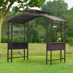 8 Ft Hardtop Gazebo by Sunjoy Crete Hardtop Grill Gazebo Backyard Amp Pool Ideas