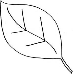 Simple leaf outline clipart best