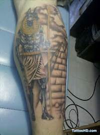 Egyptian Pyramid Tattoo Designs And Anubis