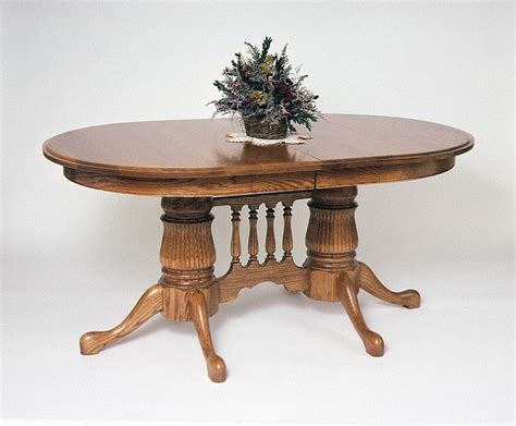 double pedestal dining room table amish reeded oval double pedestal dining room table
