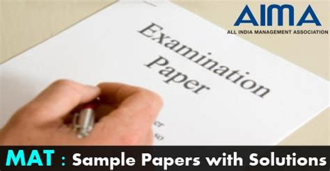 mat previous years question papers with solutions