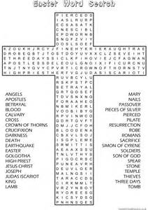 Easter word search sunday school activity website has good material