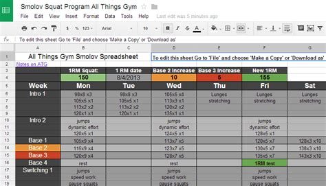 smolov bench routine ed coan bench routine spreadsheet benches