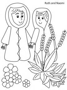 Ruth And Naomi Coloring Pages  AZ sketch template