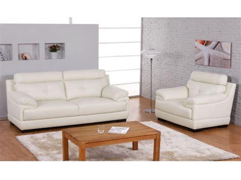 sofa garnitur kaufen sofa garnitur 3 1 b 252 ffelleder wei 223 elfenbein