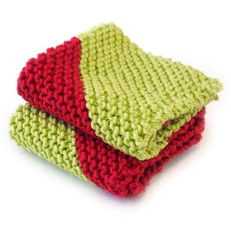 learn to knit dishcloth tangram dishcloths learn to knit kit with course