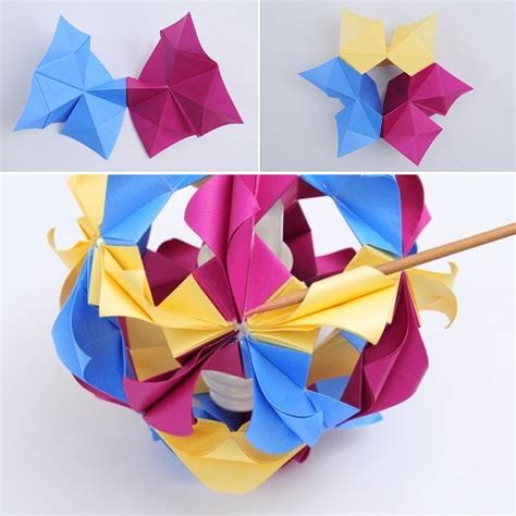 Origami Japanese Lantern - how to diy beautiful origami paper lantern