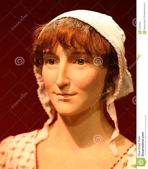 jane austen short biography english jane austen famous author wax model portrait editorial