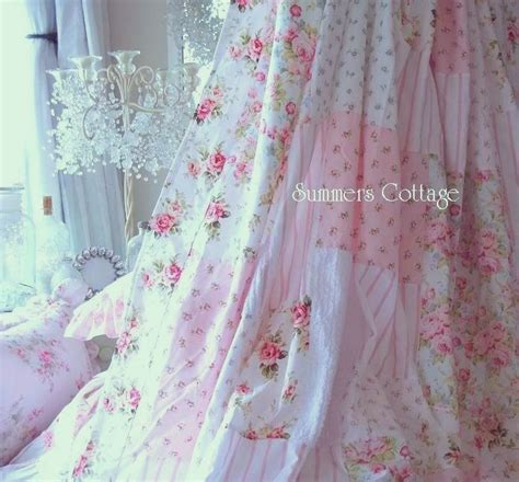 pink rose shower curtain chenille shower curtain shabby white chenille blue beach