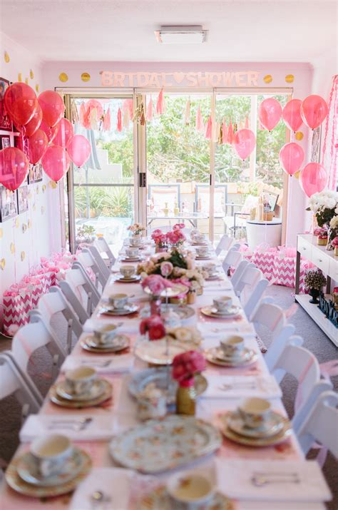 tea bridal shower a glittering pink high tea shower in sydney australia ultimate bridesmaid