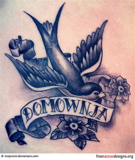 swallow and roses tattoo meaning and pictures of designs