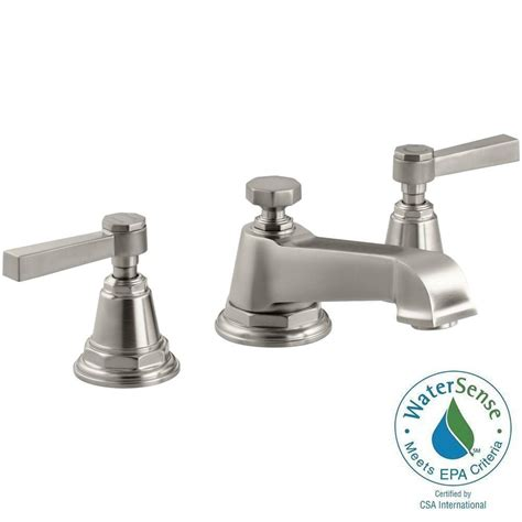 Water Conservation Faucets by Kohler Pinstripe 8 In Widespread 2 Handle Low Arc