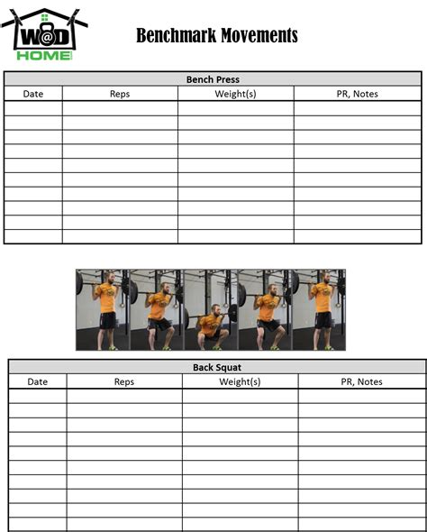 wod journal template printable crossfit workout log most popular workout programs