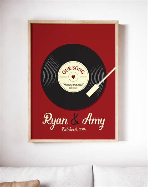 printing vinyl records wedding song print vinyl record art print personalized