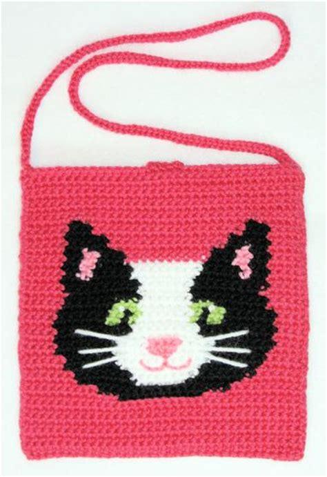 crochet tapestry bag pattern kitty tapestry crochet purse knitting patterns and