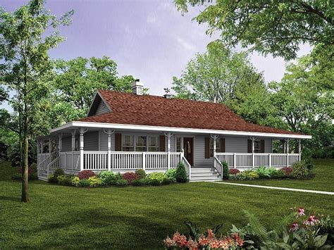 Ranch Style House Plans With Wrap Around Porch by Ranch House With Wrap Around Porch And Basement House