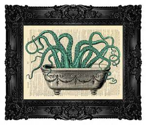 Bathroom decor octopus wall decal octopus by
