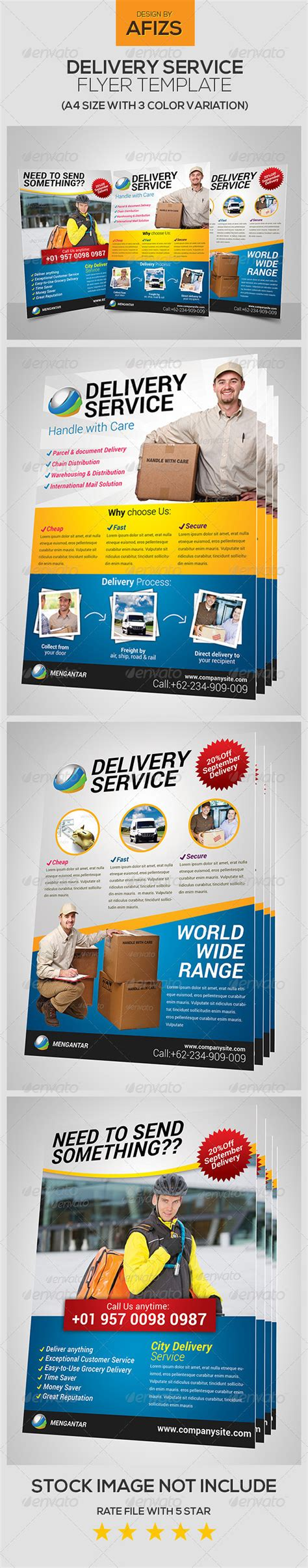 delivery flyer template delivery service flyer graphicriver