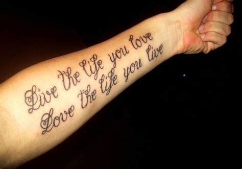 sentence tattoo designs the expresses the meaning of and in a