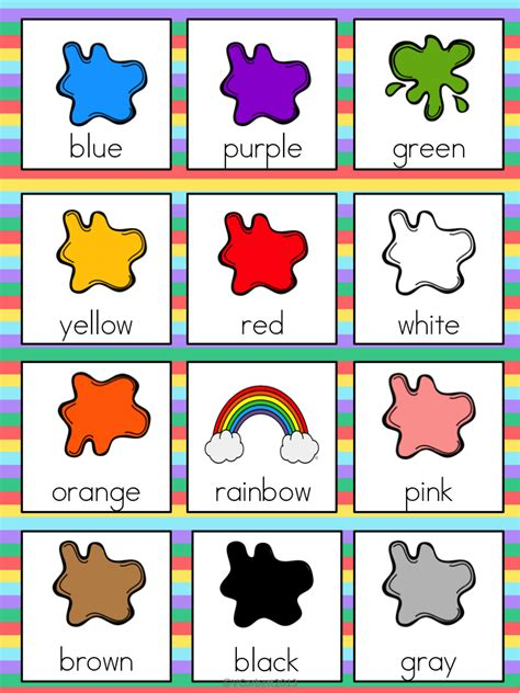 The Tutu Teacher September 2013 Colors For Toddlers