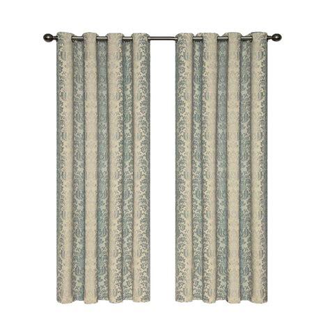 curtain length eclipse microfiber blackout navy grommet curtain panel 84
