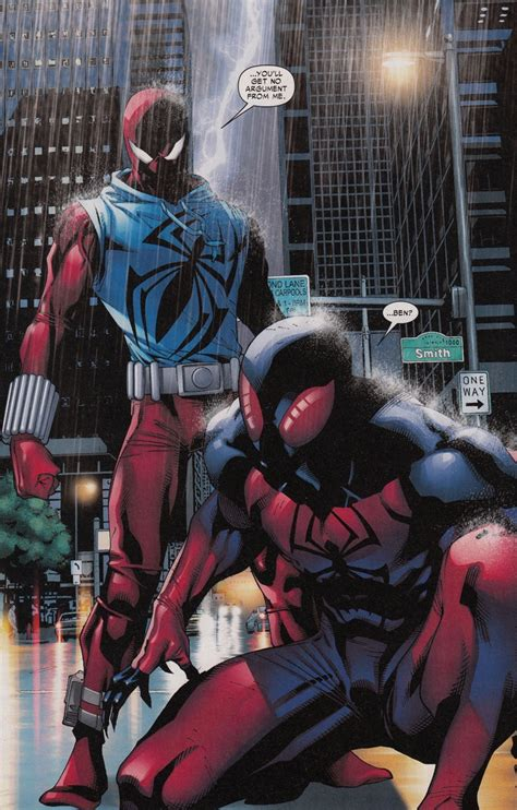 spiderman and his tattooed clone scarlet spider 21 and coming circle