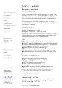 Curriculum Vitae Research by Research Assistant Cv Sample