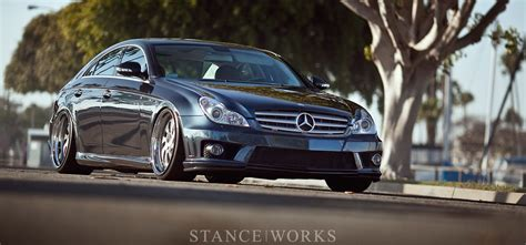 Ultimate Garage Designs stance works rotiform s mercedes cls on wrw wheels