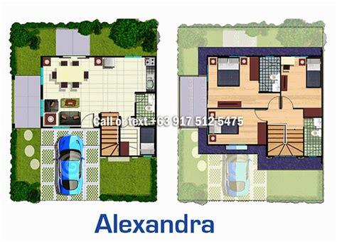 layout artist cavite alexandra model house floor plan house best art
