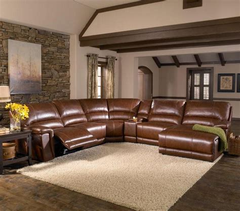 2678cs hazelnut leather 6 sectional by htl great