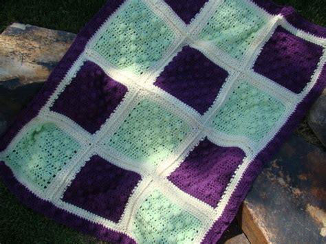 Crochet Popcorn Stitch Baby Blanket by Crafts By Starlight Popcorn Baby Blanket