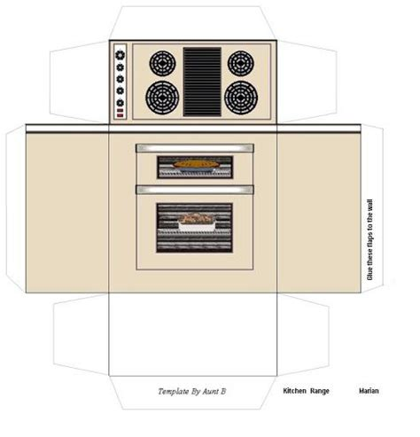 printable dolls house furniture printable miniature furniture stove boxes prints templates pinterest kitchen